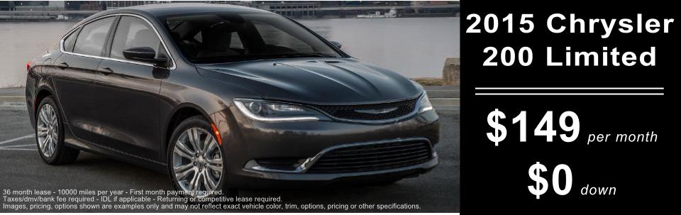Chrysler 200 leases